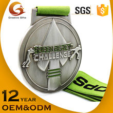 2017 newest customized 3D design sports metal award medal with ribbon