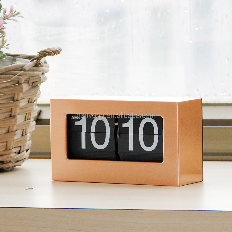 Gold Box Flip Desk Digital Clock with Mk-time Design Patent