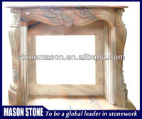 Beautiful marble indoor used fireplace mantel