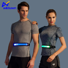hi vis fashion design waterproof adjustable led reflective light running waist belt for runners sport