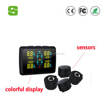 2017 Newest Auto Wireless TPMS Tire Pressure Monitoring System 4 wheels sensors with LCD dispaly