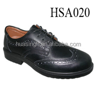slip & hit resistant steel toe available security guard shoes with fashion printed upper