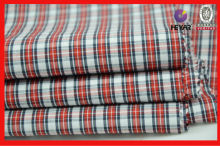 CVC soft breathable checked fabricbed cover fabric