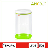Food grade transparent round glass storage container with lid