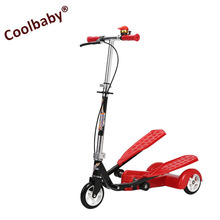 2017 new product Double-Wings Flyer Ellipitical Stepper Style Fitness Scooter/3 wheels kick scooter