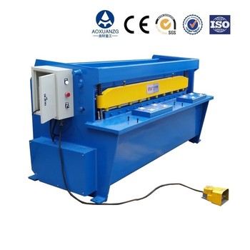 Electric color steel plate cutting/electricity foot padel tiles shearing/ simple sheet metal shearing machine