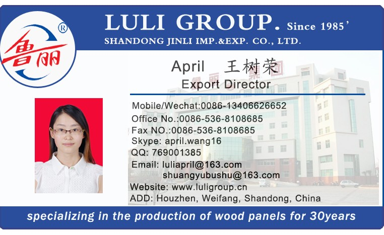 Hot sale! Manufacturer Price of furniture grade Melamine MDF Board from LULIGROUP since 1985