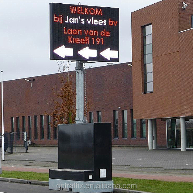 Outdoor Display LED Dynamic Message Sign, Traffic Control Full Color Display LED Road Sign Boards