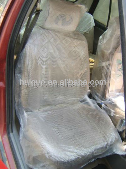 clear or printed pe car seat cover