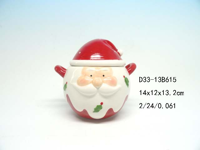 2014 Christmas ceramic mini cookie jars for wholesale