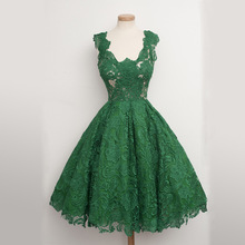 Lace Green Woman Dress Ladies Fashion Party Evening Dresses 2018