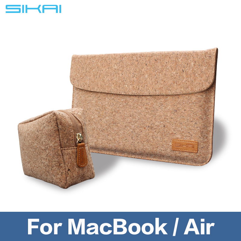 Portable Magnetic Soft Sleeve Laptop Wooden Bag Case for MacBook 11 12 13 Light Weight