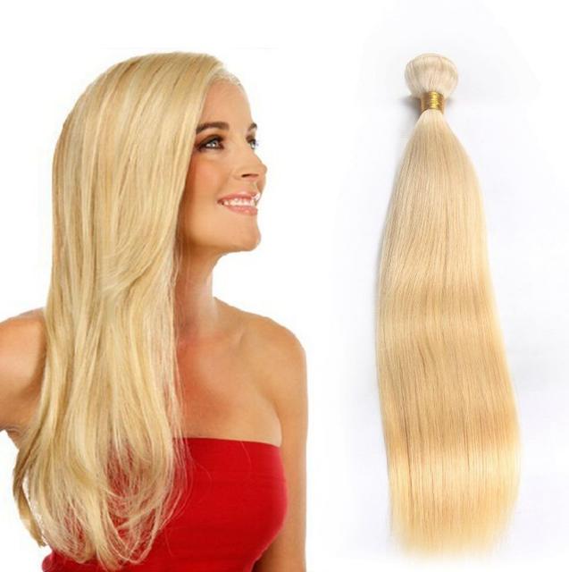 18inch Blonde Human Hair Weftyuanwenjun