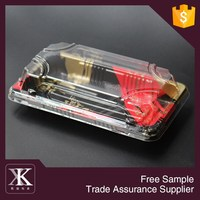 Disposable Clear Plastic Food Sushi Box Take Away Packing Containers