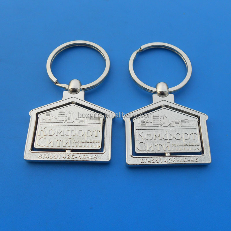 House Shape Keychain Key Ring for Lovers Valentine's day Love Key Fob