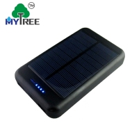 Mytree Solar Power Bank 10000mAh External solar panel charger outdoor with 2 LED Light Carabiner Compass