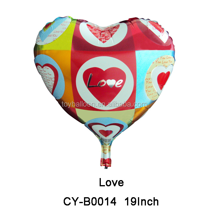 foil mylar 19 Inch Love Balloon For wedding Valentine party decoration