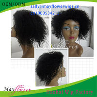 6A grade brazilian afro kinky curl glueless full lace wigs virgin unprocessed hair for American African black women