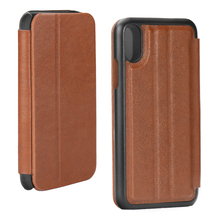 Cell Phone Flip Leather Cover Case for iPhone X