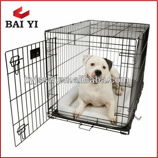 Large Folding Wire Pet Cage For Dog Cat House Metal Dog Crate Kennel Price