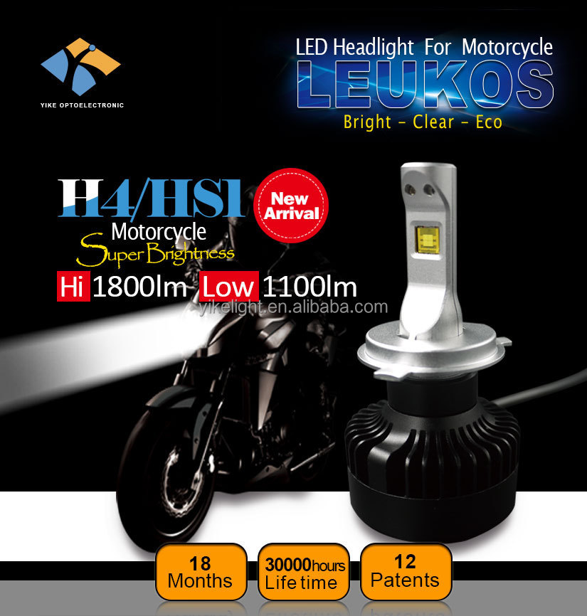 3000lm led motorcycle lighting h4