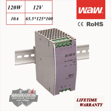 DR-120 12V 120W Din Rail power supply driver 110V/220V AC/DC wide constant voltage LED strip CE ROHS approved