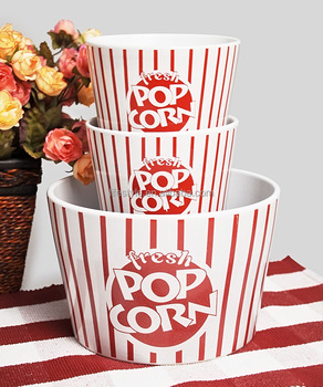 Different size ceramic popcorn bucket/bowl/cup for choose