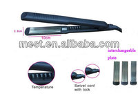 Best ceramic coating hair straightener with changeable plate and lock cord