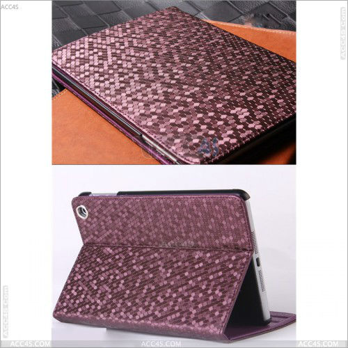 Alibaba France China Diamond style Hand Made stand pu leather Cover with retina for iPad Mini 2 case