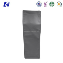 New Promotion Gravure flexible packaging pouches block bottom bag for coffee
