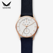 Rose gold case sports watches men oem 3atm water resistant quartz watch chronograph watch luxury