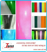 Hot sale!! Reflective material and sticker,printing vinyl banner material,1.35m/1.55m/3.15m*50m