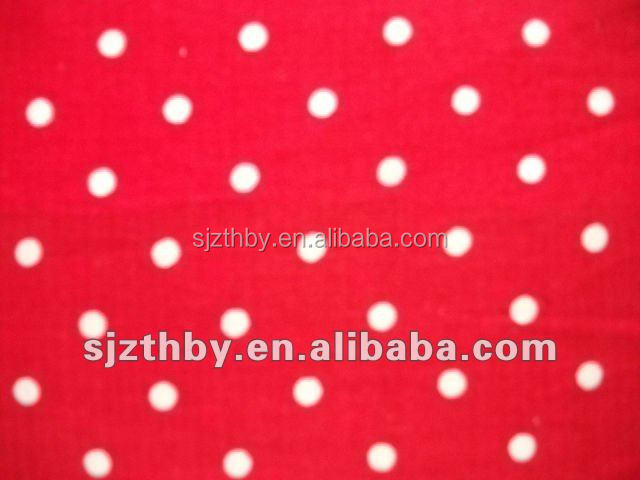 2017 fashion custom design print cotton red and white polka dot fabric