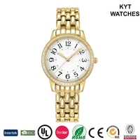 KYT Metal Bracelet Silver Gold Rose Gold Japan Movement Quartz Watch Women