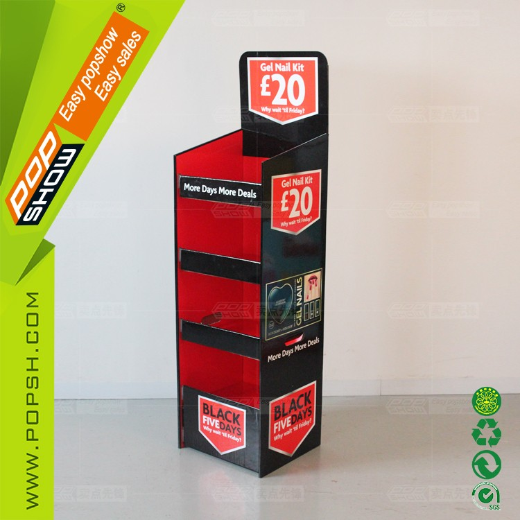 Advertising sales promotion Design OEM cardboard display stand market show stand
