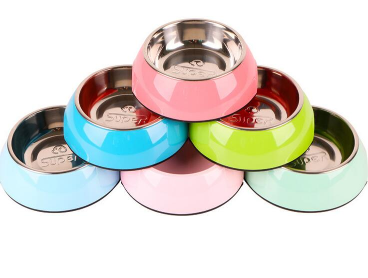 Dog Bowl Made of Stainless Steel Durability with Rubber Base Pet Pet Food Drinking Bowl