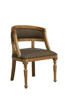 Vintage French Side Chair/ Upholstery Wooden Antique Louis Cane Back Dinning Chair