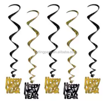 New year's hanging whirls decorations hot sales