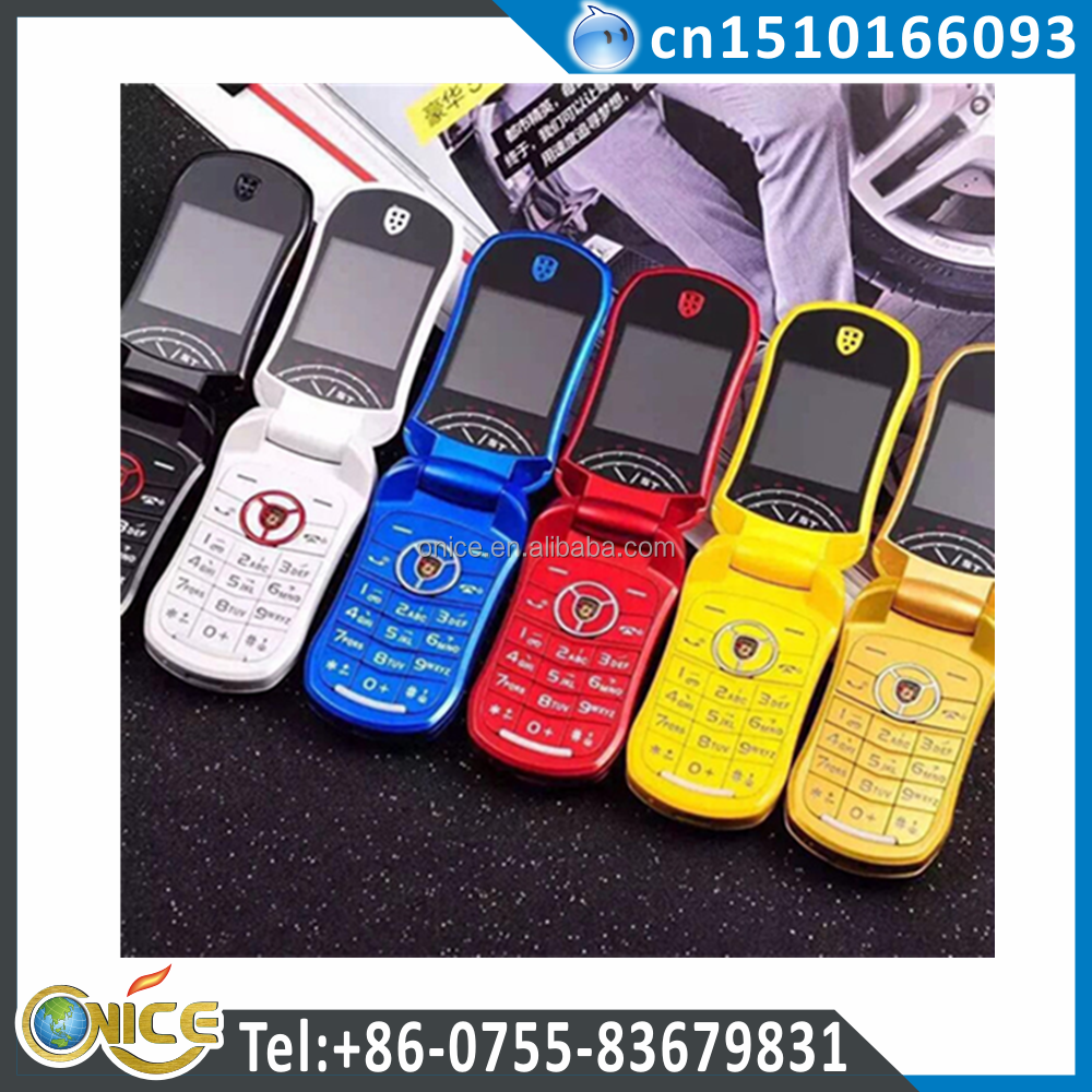 Car shaped mobile phone from Chinese factory with beautiful design support FM Radio