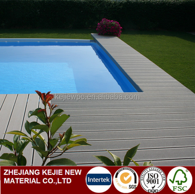 WPC Flooring Solid Wood Plastic Composite Decking Outdoor Brushed Anti-UV WPC Board
