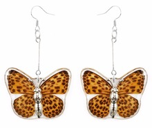 Latest model REAL butterfly wings big fashion exotic earring for women