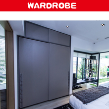 modern wood home laminate customize wardrobe with sliding door