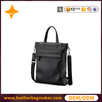 Portable Large Solid Color Genuine Leather