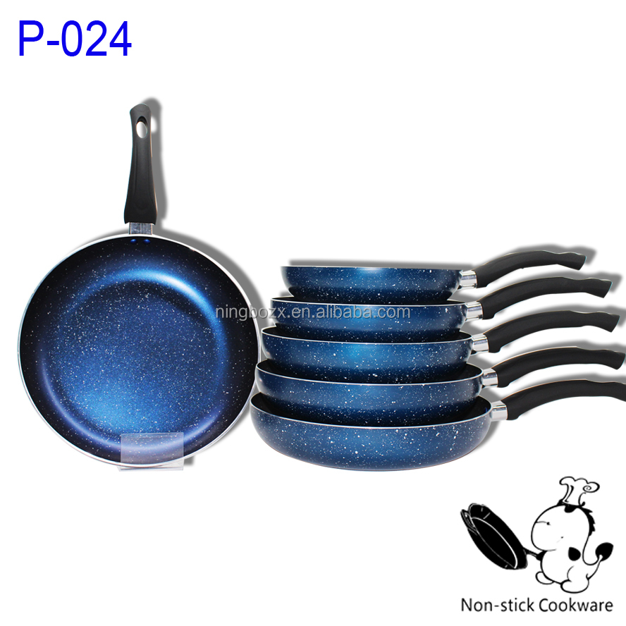 starry sky marble coating forged fry pan