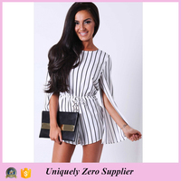 Monochrome fringe long sleeve jumpsuits for women 2016 sexy