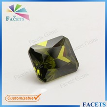 FACETS GEMS AAA Grade Dark Peridot Price Octagon Cut Peridot Gemstone in Afghanistan