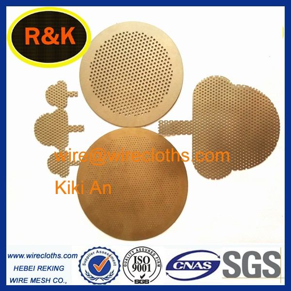 Chemical etching Filter Stainless Steel Perforated Metal Mesh