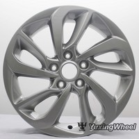17 inch 5 hole aluminum material ems matte gun gray style wheels rims fit any car