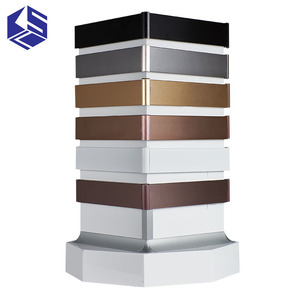 Industrial black anodize aluminum cover skirting board