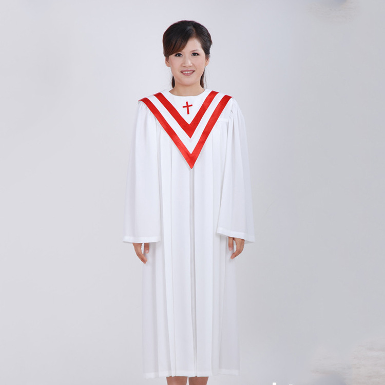 Unisex Choir Prayer Clergy Church Robes For Performance In Cheap Price